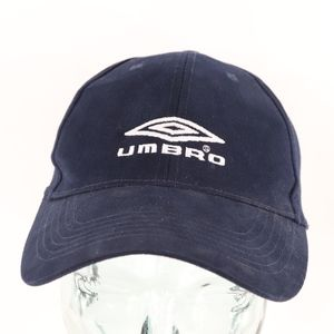 90s Umbro Spell Out Strapback Cotton Dad Hat Blue